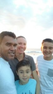 Family at Jaco Beach